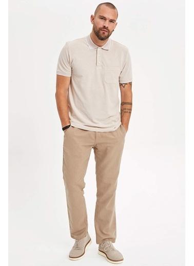 DeFacto Regular Fit Polo T-Shirt Bej